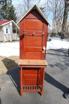 Unique Potting Bench | Antique 5 Panel Door Hall Tree or Potting Bench