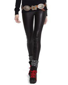 Skinny Stretch-Leather Pant - Polo Ralph Lauren Pants - RalphLauren.com RETAIL $998~ WISH PRICE $450