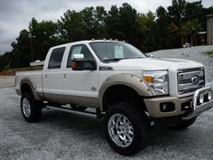 Ford F-250 white LIFTED Truck