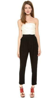Band of Outsiders Strapless Obi Belt Jumpsuit. $995 on shopbop. Just a tad pricy! lol
