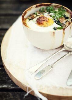 baked eggs #breakfast #brunch