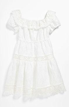 Dolce & Gabbana - White dress with fringes - 28409 Beach Flower Girls, Flower Girl Dresses, Dolce And Gabbana Kids, Jacquard Dress, Babydoll Dress, Fringes, Luxury Fashion, Kids Fashion, Cool Outfits