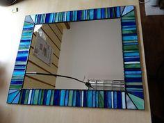 Squere mosaïque Tiffany Style teinté verre miroir par ArtesanaPL