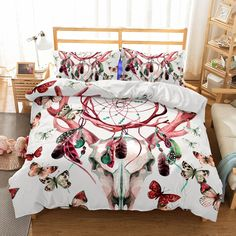 Curtains And Bedding To Match Boho Bedding, Duvet Bedding Sets, Unique Bedding, Western Bedding, Modern Bedding, Comforters, Luxury Bedding Collections, Blanket Cover, Duvet Cover Sets