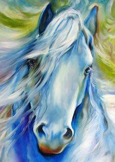 """Dreamscape Freisian (détail par Marcia Baldwin - Modeustch X Painted Horses, Horse Drawings, Animal Drawings, Watercolor Horse, Horse Artwork, Acrylic Art, Acrylic Paintings, Equine Art, Animal Paintings"