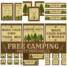 Camping Party Favors | FREE Camping Party Printables from Printabelle | Catch My Party