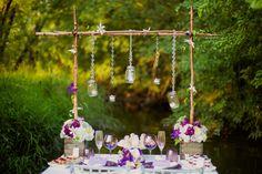Rustic & Romantic Sweetheart Table. Get The Look: Rustic & Romantic Wedding Inspiration via TheELD.com ...