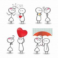 Draw a stick man 47872 stick figure vector clipart clip art love stick people couple Stick Men Drawings, Easy Drawings, Stick Figure Drawing, Cartoon Drawings Of People, Stick Man, Vector Clipart, Jolie Photo, Stick Figures, Art Plastique