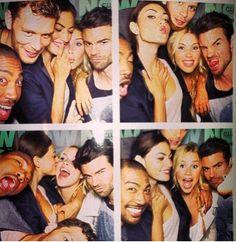 #SDCC -  Klaus (Joseph Morgan), Rebekah (Claire Holt), Elijah (Daniel Gillies), Marcel (Charles Michael Davis) andHayley (Phoebe Tonkin)
