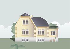 My project @Behance: «Danish House (illustration)» www.behance.net/... #house #flat #gradient #graphicdesign #graphic #art #illustration #digitalart #digitalpainting #grass #windows #sky #danish #adobeillustrator #vector #vectorart #vectorillustration #digitaliilustration #design