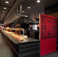 Work by Lausanne, Switzerland-based studio Moser Design for Philipe Guignard, a hospitality brand. Commercial Interior Design, Commercial Interiors, Sign Display, Behance, Packaging Design Inspiration, Branding Design, Identity, Kitchen Appliances, Architecture