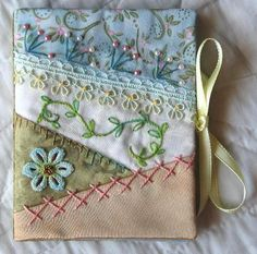 It's so sweet. A very pretty needle book.  *****CRAZY QUILT EMBROIDERY!*****