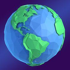earth concept 3d model