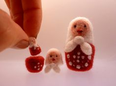 Needle Felted Nesting Dolls
