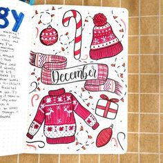 The BEST list of Christmas bullet journal inspiration. I'm so glad that I found this GREAT list of December bullet journal spread and layout ideas! Feeling so much bullet journal inspiration right now for December! Bullet Journal Christmas, December Bullet Journal, Bullet Journal Cover Page, Bullet Journal Writing, Bullet Journal Spread, Bullet Journal Ideas Pages, Bullet Journal Layout, Journal Covers, Bullet Journal Inspiration