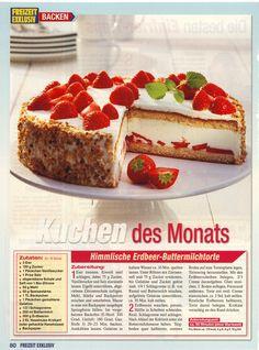 Erdbeer-Buttermilch Torte