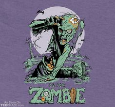 Z is for Zombie T-Shirt Designed by Sumrow