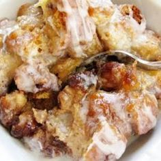 Crock Pot Bread Pudding in Caramel Sauce Recipe