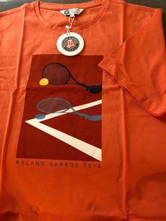 f18c0c3aef6 Mens Official French Open Roland Garros 2018 Short Sleeve Tennis T-Shirt  NWT  fashion
