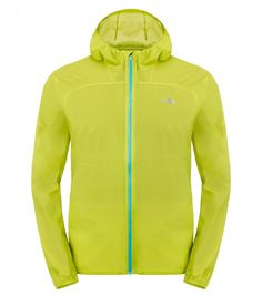 The North Face Chaqueta para hombre Feather Lite Storm Blocker Venom Yellow Sport Wear, Hooded Jacket, The North Face, Feather, Dressing, Yellow, Face Men, Trail Running, How To Wear