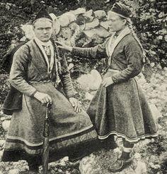 Sami girls from Telemark Norway Late 1800