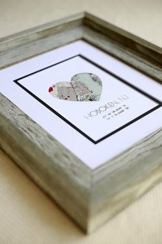Housewarming Gift Home Map Matted First New House Anniversary Or Wedding Paper 1st Anniver Custom