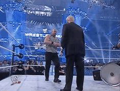 After chugging a Steveweiser, he returned to Trump only to deliver a STONE COLD STUNNER. | Reminder: Donald Trump Took A Stunner From Steve Austin In WWE