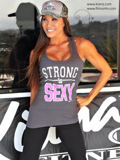❤️ LOVE! New tops at the shop: http://shop.kiana.com/products/new-strong-is-sexy-tank-tops