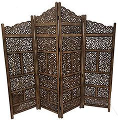 online shopping for Deco 79 Traditional Wood Multi-Panel Room Divider, 72 H x 80 L, Textured Brown Finish from top store. See new offer for Deco 79 Traditional Wood Multi-Panel Room Divider, 72 H x 80 L, Textured Brown Finish Fabric Room Dividers, Decorative Room Dividers, Bamboo Room Divider, 4 Panel Room Divider, Living Room Divider, Hanging Room Dividers, Diy Room Divider, Divider Cabinet, Decorative Screens