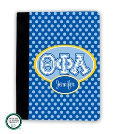 Theta Phi Alpha Letters on Dots iPad Cover