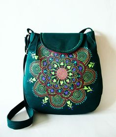 Veľká zelená taška s mandalou