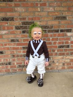 Oompa Loompa toddler costume & Homemade baby Oompa Loompa costume. Babyu0027s 1st Halloween Costume ...