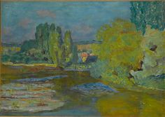 Pierre Bonnard (French, Fontenay-aux-Roses 1867–1947 Le Cannet) House on the Seine near Vernon