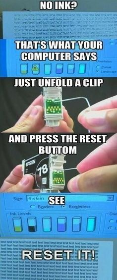 """How to get more ink out of your """"empty"""" ink cartridge"""