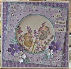 """""""All about friends"""" by Dorte Kvist on House-Mouse Designs® House Mouse Stamps, Easel Cards, Digi Stamps, Cool Cards, Paper Dolls, Cardmaking, Paper Crafts, Card Ideas, Crafty"""
