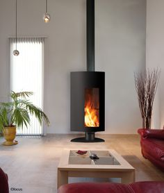 #cheminee stofocus. Poêle à bois fermé à très haut rendement. Orientable.  Homesolute Design Award 2011
