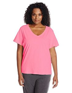 Jockey Womens PlusSize VNeck Tee ** Visit the image link more details.