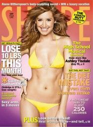 """""""High School Musical's"""" Ashley Tisdale shows off her curves on the January 2009 cover of Shape magazine. She talked about her diet, exercise and love of . Shape Magazine, Health And Fitness Magazine, Health Fitness, Mehendi, Hot Bikini, Bikini Girls, Thing 1, Journals, Lifestyle"""