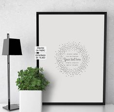 Ideal Valentines gift! YOUR personal love message hand printed on fabric to be framed within a dotted frame illustration by My Home and yours.