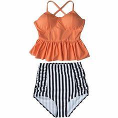 BANDEA High Waist Swimsuit New Bikinis Women Push Up Bikini Set Swimwear Female Halter Beach Wear Bathing Suits Dress