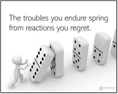 THE TROUBLES YOU ENDURE SPRING FROM REACTIONS YOU REGRET Reacting is you with someone else in mind. Reacting tricks you into believing you're proactive. Reacting defends bad with bad. Reacting gives the illusion of power. #leadership #management Leadership Development, Leadership Quotes, Regrets, Believe In You, Healthy Alternatives, Revenge, Spring, Coaching, Feels