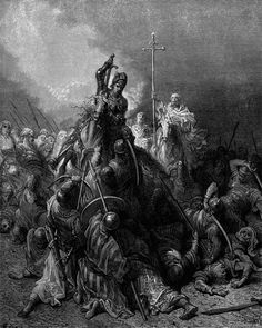 The Battle of Antioch. llustration to The Crusades.