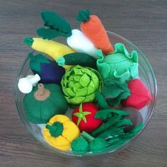 Felt Patterns - Felt Vegetables Set Felt Food Patterns and Tutorials
