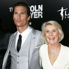 "Matthew McConaughey   This is one mother-son duo that knows how to have a good time. As this year's Best Actor winner, he brought both his wife and his mom as his dates. He  made sure to thank the woman who supported him through thick and thin in a touching tribute that had everyone fighting back tears, ""To my mother who's here tonight, who taught me and my two older brothers—demanded—that we respect ourselves. And in turn we were able to learn how to respect others. Thank you for that…"
