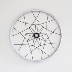 Bicycle wall art, SANJI MANDALA geometric home decor, upcycled bike wheel parts