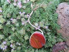 Jasper pendant with shooting bail, #170 made by Sandy River Jewelry