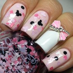 40 Special Nail Art Design Spring Nail Design Summer # Thumbnail Design Summer & & Nail & # spring # nails Source by nageldesignovaro The post 40 Special Nail Art Design Spring Nail Design Summer # Thumbnail Design Som & appeared first on nails. Minnie Mouse Nails, Mickey Mouse Nails, Pink Minnie, Nail Designs Spring, Cute Nail Designs, Special Nails, Nail Photos, Hot Nails, Fabulous Nails