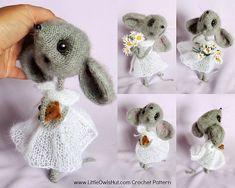 Ravelry: 097 Mouse Sofia Crochet+Knitting(dress) pattern by LittleOwlsHut