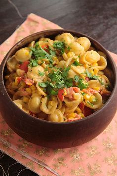 Creamy Corn and Tomato Pasta | 30 Vegetarian Meals You Can Make In 30 Minutes Or Less