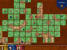 5) The iPad version of Carcassonne solves this problem by keeping track of all the tiles for you, and it allows you to see all of them by moving the board around. Like Ticket to Ride, it also has displays for your score and the number of meeples you have available to you. You can play against bots (computer players) or other players online in both Ticket to Ride and Carcassonne.